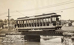 trolley through marsh
