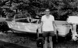 My dad and his boat